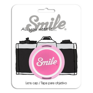 Smile 52mm Kawai Lens Cap for DSLR, Bridge or Mirror less camera