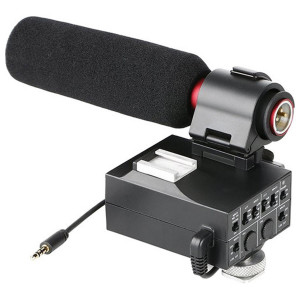 Saramonic MixMic Audio Adapter with Shotgun Microphone