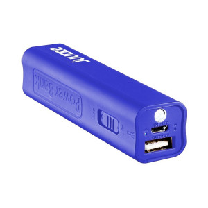 Bitmore Juucee 2600mAh Compact Portable Battery Charger with LED Torch - Blue