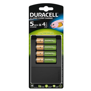 Duracell Battery Charger with 4pcs 1300mAh Batteries (6 Month Warranty)