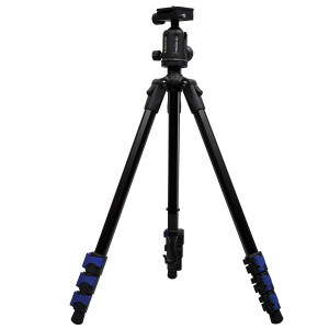 Hahnel Triad 40 Lite Professional Light Weight Aluminium Alloy 4-Section Tripod with 360º Lock-in System Ball Head and Free Carrying Case