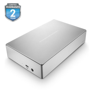 "LaCie 6TB Porsche Design USB 3.0 Type-C 3.5"" External Hard Drive for PC and Mac"