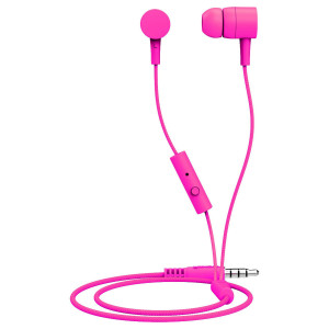 Maxell Spectrum Designer Earphones with In Line Microphone in Pink