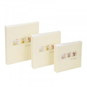Kenro Pearl Rose Design 60 Pages Photo Album White [WED103]