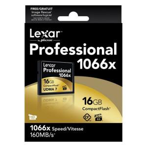 Lexar 16GB 1066x Professional Compact Flash Card UDMA 7 (LCF16GCRBEU1066)