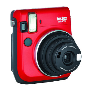 Fujifilm Instax Mini 70 Instant Camera Red Including 10 Shots