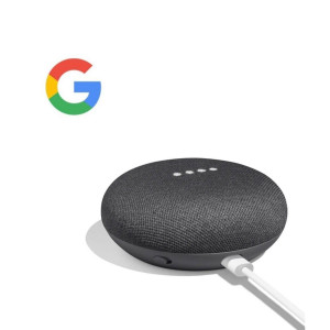 Google Home Mini Voice Activated Speaker Smart Assistant - Charcoal