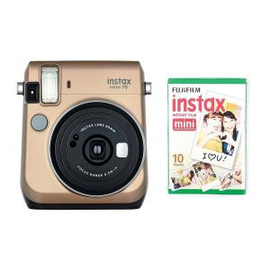 Fujifilm Instax Mini 70 Instant Camera Gold Including 10 Shots - 70100133561