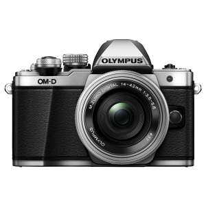 Olympus OM-D E-M10 Mark II Compact System Mirrorless Camera in Silver + 14-42 EZ Lens