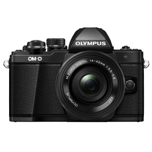 Olympus OM-D E-M10 Mark II Compact System Mirrorless Camera in Black + 14-42 EZ Lens
