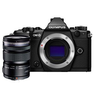 Olympus OM-D E-M5 Mark II Mirrorless Camera - Black (12 - 50 mm Lens) KIT