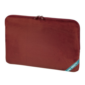 Hama 15.6 Inch Velour Notebook Sleeve Laptop Case Apple Mac Dell Acer HP Red
