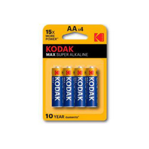 Kodak CAT-30952867 Max Super Alkalaine LR6 1.5V High Quality Batteries