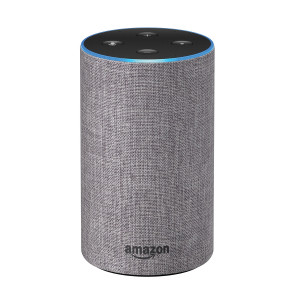 Amazon Echo - 2nd Generation Smart Speaker with Alexa - Heather Grey Fabric