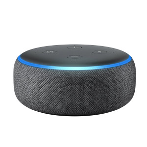 Amazon Echo Dot - 3rd Generation Smart Speaker with Built-In Alexa - Charcoal