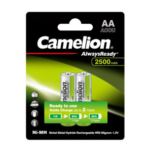 Camelion AA 2500mAh 1.2V Rechargeable Battery 2pcs