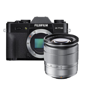 Fujifilm X-T10 Mirrorless Digital Camera with 16-50mm Lens (Black + Silver)