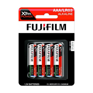 Fujifilm AAA LR03 Alkaline 1.5V Xtra Power Non Rechargeable 4 Batteries Pack
