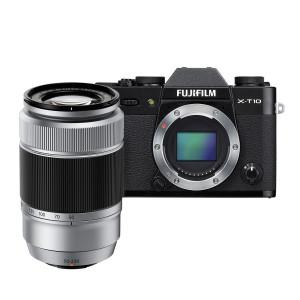 Fujifilm X-T10 Mirrorless Digital Camera with 50-230mm Lens (Black + Silver)
