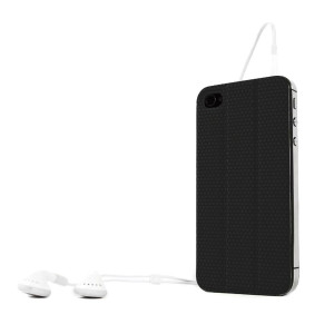 TidyTilt iPhone 4/4S Black Case to Magnetic Mount, Kickstand, Earphone Cord Wrap