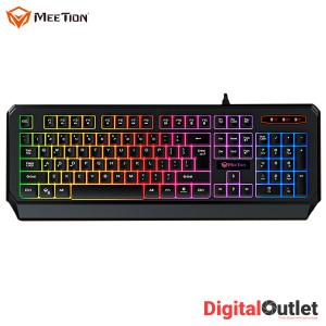 Meetion MT-K9320 Waterproof Rainbow Backlit 1.5 Meter Cable Gaming Keyboard Black