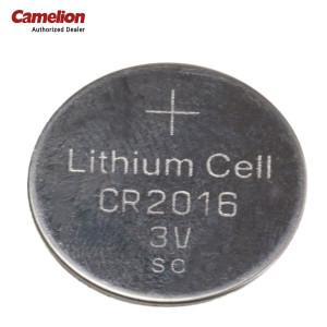 Camelion CR2016-BP5 3-Volts Electronics Lithium Button Cell Batteries - Sliver