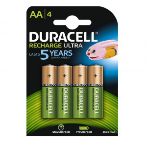 Duracell Recharge Ultra Type AA Batteries 2500 mAh - Pack of 4