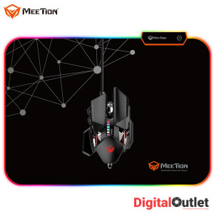 Meetion MT-PD120 Soft Rubber Led RGB Gaming Mouse Pad for Mouse - Black