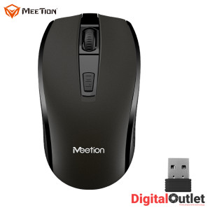 Meetion MT-R560 Full Grip 4 Buttons 1600dpi 2.4Ghz Wireless Mouse Black