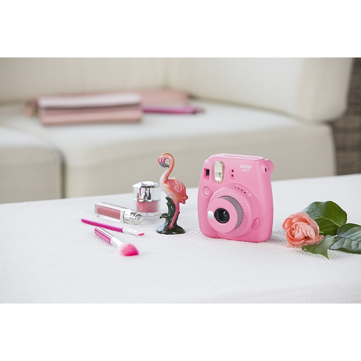 Fujifilm Instax Mini 9 Camera 10 Shots Free Flamingo