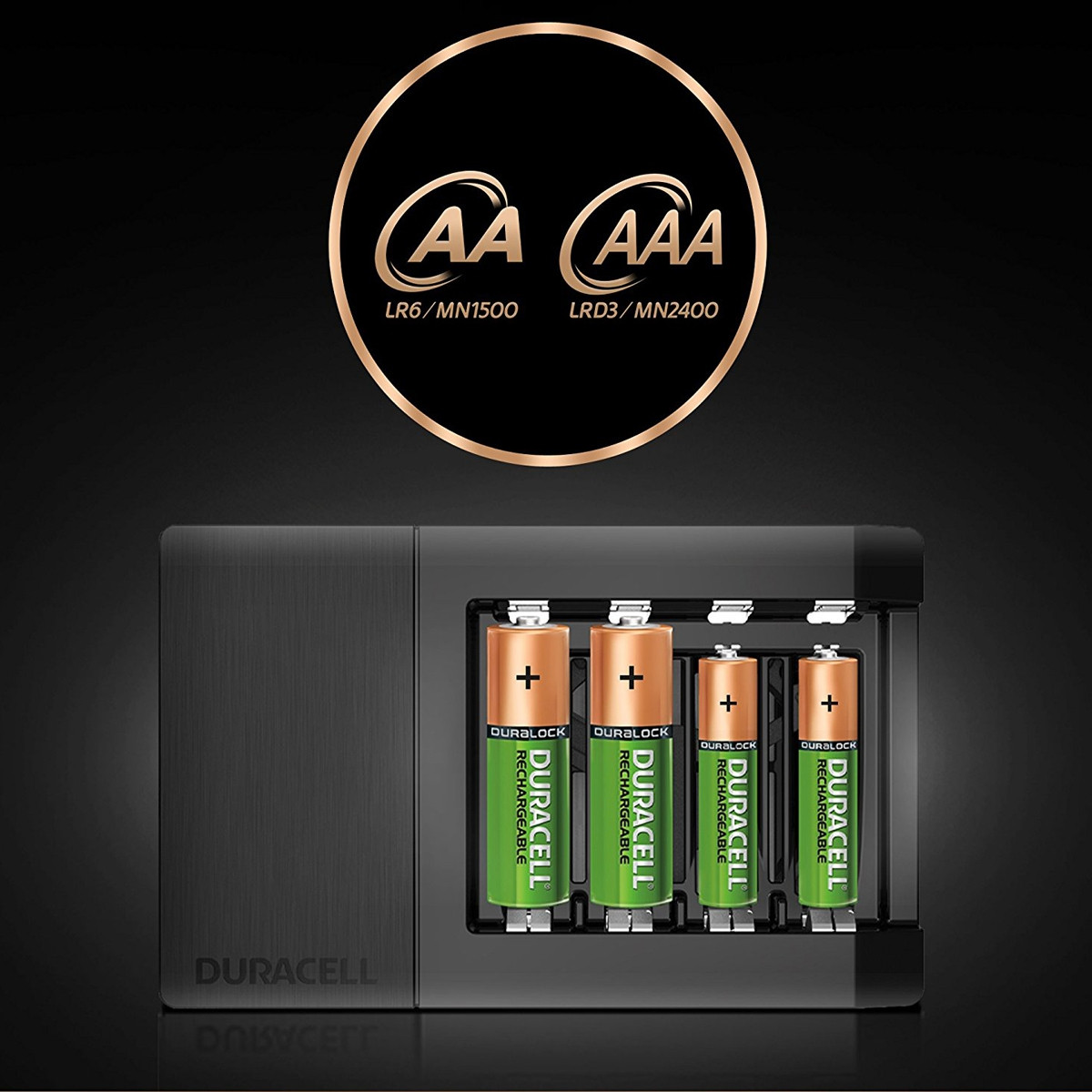 Duracell Battery Charger with 4pcs 1300mAh Batteries (6