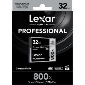 Lexar 32GB Professional 800X120MB/s UDMA 7 CompactFlash Memory Card